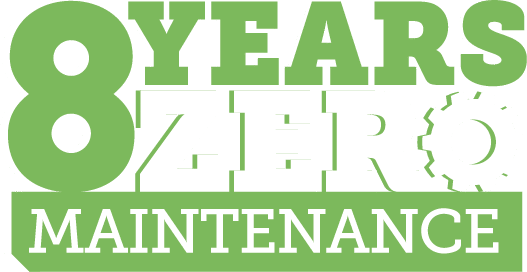 8 years zero maintenance
