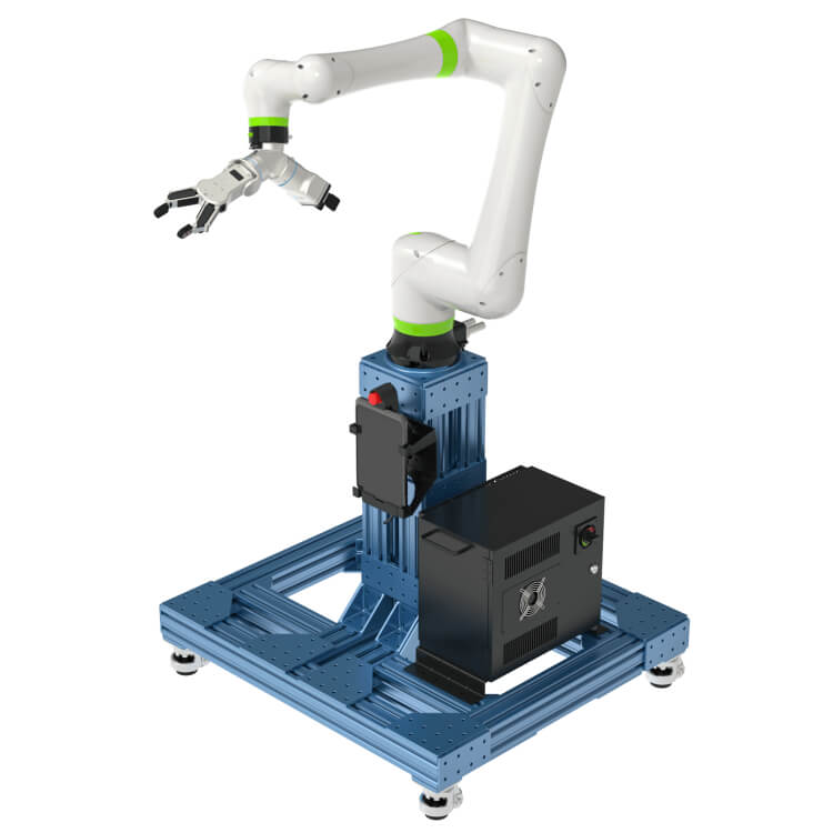 VENTION CRX robot, tablet and controller on floor stand